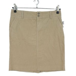Old Navy Tan Corduroy Stretch Straight Skirt (H11)
